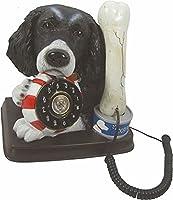 Spaniel Telephone ~ black springer spaniel dog & bone phone by Steepletone