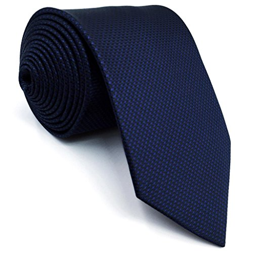 Shlax&Wing Klassisch Herren Seide Neu Krawatte Blau Einfarbig Extra lang - Krawatten Krawatten