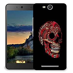 Snoogg Red Skull Designer Protective Back Case Cover For MICROMAX CANVAS JUICE 3 Q392