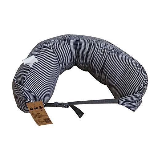 Shangcer Reisekissen, Verbesserte Bambuskohle Memory Foam Pillow Core Ergonomic Design 360-Grad-Unterstützung Kopf und Kinn, Nackenkissen für Flugzeug, Reisen