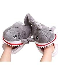 Scarpe Inverno Caldo Pantofole squalo Sveglia Molle della Soft Peluche del  Fumetto Pantofole Anti-Skid Casa Cotone… f563d4c3a8b
