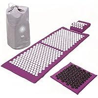 Preisvergleich für Bodhi Akupressur-Set Deluxe XL Soft, Aubergine: Akupressurmatte (130 x 50cm) Akupressur-Fußmatte & -Kissen im...