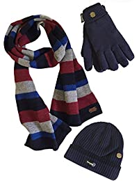 VEDONEIRE Mens Hat Scarf Gloves Set (3022) winter warm christmas gift (One Size Fits All)