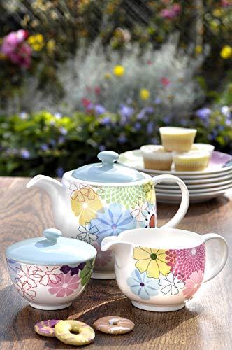 Portmeirion Crazy Daisy Tee-Set, Mehrfarbig, 3-teilig Porcelain Side Plate