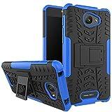 Nadakin Alcatel One Touch Pop 4S Hülle Schutzhülle Hybrid Rugged Phone Case Stoßfest Handys Schutz Cover mit eingebautem Kickstand Shockproof für Alcatel One Touch Pop 4S (Blau)