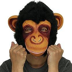 Cusfull Novedad De Lujo de Látex de Caucho Chimpancé Mágico Espeluznante Chimpancé Arriba Completo Máscara Halloween Disfraces Disfraz Fiesta Decoraciones