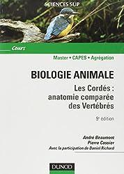 Biologie animale : Les cordés : anatomie comparée des vertébrés