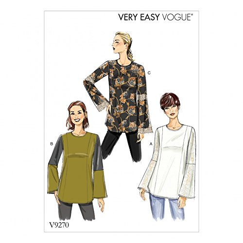Vogue Damen Easy Schnittmuster 9270Princess Saum Tunika Tops