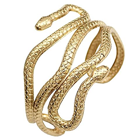 Gold Plated Q&Q Fashion Chic Egypt Cleopatra Swirl Snake Arm