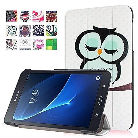 "Coque Samsung Tab A6 7.0"" - Premium PU Cuir Folio Filp Case Cover pour Samsung Galaxy Tab A 7.0 Pouces (SM-T280 / SM-T285) Housse Coque Etui (#2 ruralité)"