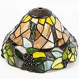 Lampenschirm, Schirm für Lampe im Tiffany-Stil -Herbsttrauben- 20cm