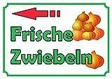 HB_Druck Verkaufsschild Schild Zwiebeln links A1 Rückseite selbstklebend