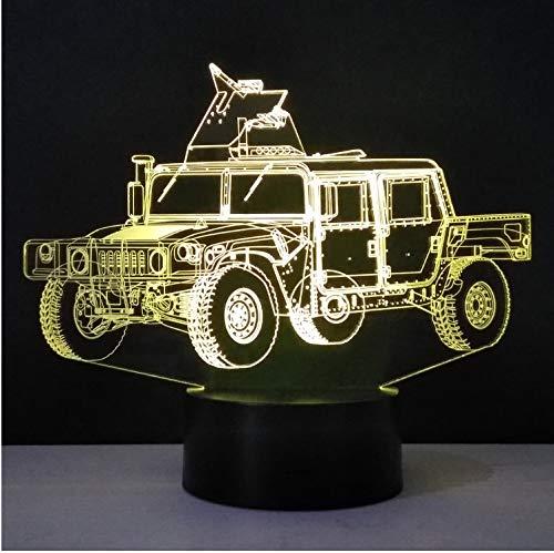 USB Nachtlicht in Form eines LKW Militär 3D LED Tischlampe aus Methacrylat Craft Night Light Innovative Dekoration Nachtlicht Bunt Geschenk für Kinder