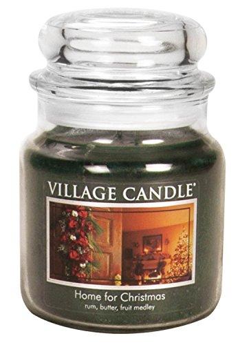 Village Candle Home - Tarro de Cristal (10 x 10,1 x 11,6 cm), Color Verde, Vidrio, Verde, 10 x 10.1 x 11.6 cm