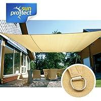 sunprotect 83230 Professional Toldo / Vela de Sombra, 6 x 4 m, rectangular,
