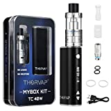 E Cigarette, THORVAP® 40W TC Vape Kit Inc. Sub Ohm Tank and 2200mah OLED Box Mod with TC/VW function E Cig Vape Pen. Huge Vapour Electronic Cigarette Kit, No E Liquid, Nicotine Free E Cigarettes (Upgraded)