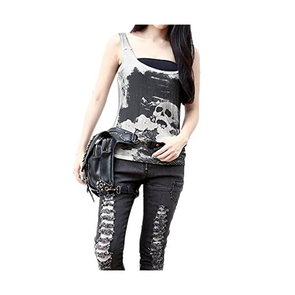 Steampunk Bag Steam Punk Retro Rock Gothic Goth Shoulder Waist Bags Packs Victorian Style for Women Men + Leg Thigh Holster Bag DM201605 100% Brand New and High Quality. Adjustable belt design for better fitting body Material : Leather ( PU Leather) Durable material and workmanship to withstand daily wear & tear. 9