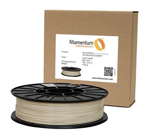 Preisvergleich Produktbild Fillamentum 3D Filament - PLA,  750g / 1.75mm - Hell Elfenbein (Light Ivory),  Druck Temperatur 190-210°C