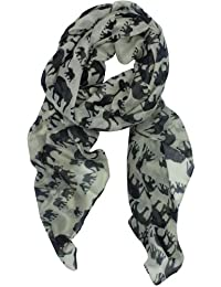 Womdee(TM) Fashion Woman Ultra Soft Paris Yarn Gorgeous Elephant Print Long Scarf Shawl Wrap-Creamy White With Womdee Accessory