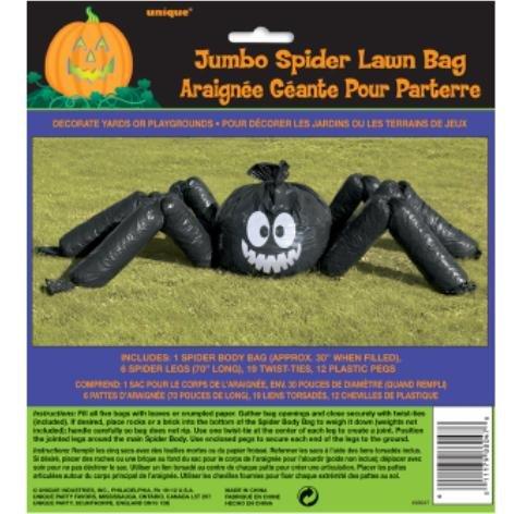 Spinnen Halloween Riesen (Halloween Garten Monster Riesenspinne aus Tüten ausstopfen 3 Meter großer Horror Schocker Spaß Party)