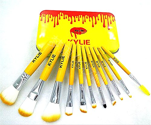 KYLIE Cosmetic Makeup Brush Set with Storage Box (Set of 12)