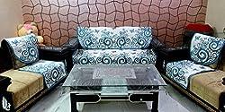 stylus PAR_01 Cotton based 5 seater, 6 Piece Sofa Cover