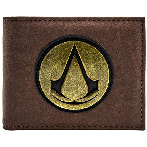 Assassins Creed Golden Original Retro Symbol Logo Braun -