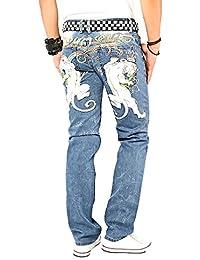 Kosmo Lupo K&M 053 Designer Jeans Homme Cargo Black Bleu Style Clubwear Pantalon W29-W38 / L32-L34