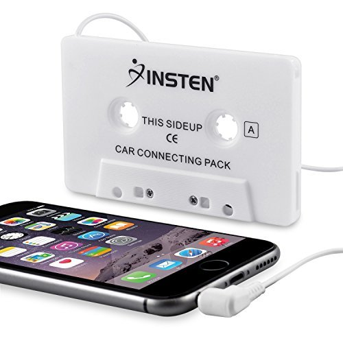 Insten White 3.5 Mm Car Audio Cassette Adapter - Compatible with Huawei Google Nexus 6P; LG Google Nexus 5X; Samsung Galaxy S6/ Galaxy S6 Edge Samsung Galaxy Note 4 / Apple iPhone 6 Plus (5.5) iPod touch / Nano / Shuffle / Classic  available at amazon for Rs.1219