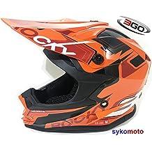 3GO XK188 ROCKY CUB NIÑOS MOTOCROSS CARRERAS QUAD ATV DIRT BMX CASCO NARANJA (L (51 - 52 CM))