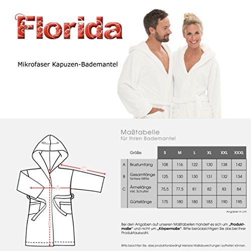 Bademantel mit Kapuze für Damen und Herren, weich und super flauschig, Coral-Fleece, Florida CelinaTex Saunamantel Pflaume
