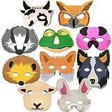 10 masques d'animaux en mousse pour enfants Thème forêt et ferme