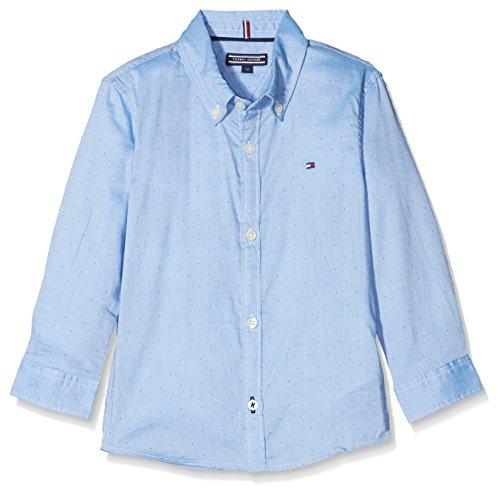 Tommy Hilfiger Jungen Hemd Ame Blue Shirt L/S, Blau (Blue Depths 406), 152 (Herstellergröße: 12) (Ames Ärmel Lange)