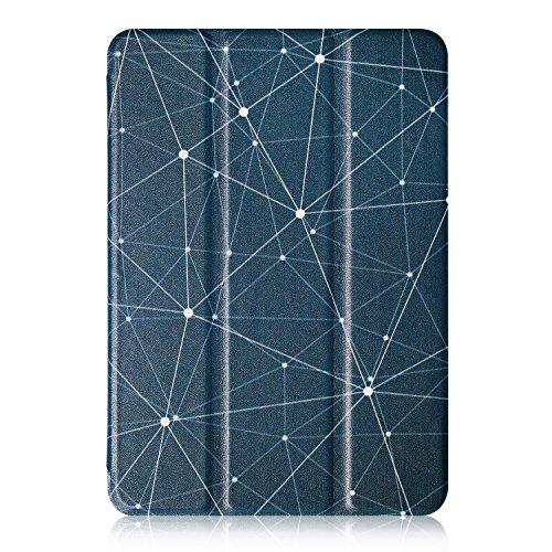 BeePole Lenovo Tab 2 A10-30/A10-70F hülle - Smartes Tri-fold Tablet Schutzcase aus PU-Leder mit Ständer und magnetischer Aufwach/Schlaf Funktion für Lenovo Tab 2 A10-30 / A10-30F / A10-70 / A10-70F (Polygonal)