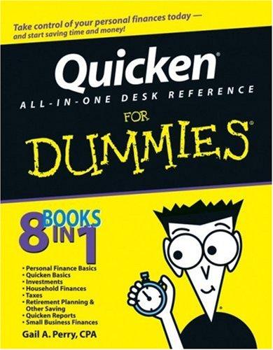 Dummies Quicken (Quicken All-in-One Desk Reference For Dummies)