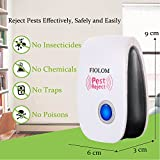 FIOLOM Electronic Pest Repellent, Ultrasonic Pest Repeller Indoor Plug In Pest Control for Insects, Spiders, Fleas, Flies, Cockroaches, Roaches, Bugs, Ants, Mice, Mosquitoes, Rodents (4 Pack)