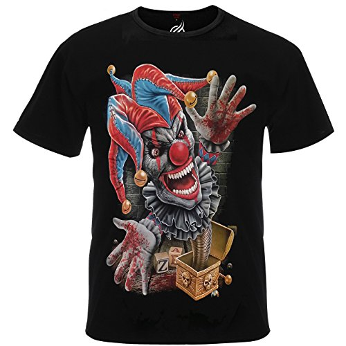 Evil Psychotic Clown Jack In A Box Pennywise IT Metal Tshirt Tee Shirt Top