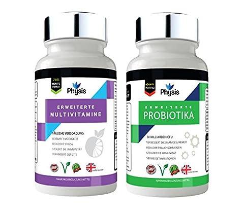 Physis Hochentwickelte Probiotika und Multivitamin-Kombipackung / Advanced Probiotics and Multivitamin