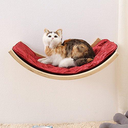 L&XY Gato Hamaca Gato Casa Mascota Gatito Relajarse Sueño Sólido Estante De Madera Verde Muebles para Mascotas Más Enviar Suave Cojín