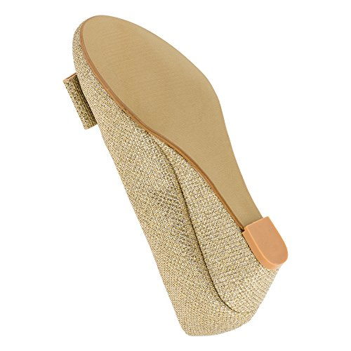 Mikelo Shoes, Scarpe col tacco bambine #143go Gold