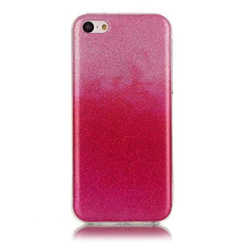 Beiuns pour Apple iPhone 5C (4 pouces) Coque en Silicone TPU Housse Coque - N226 argent N217 rose