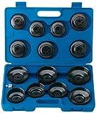 Draper 40105 15-Piece Oil Filter Cup Socket Set (Japan)