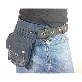 Hüfttasche hergestellt aus eine blaue recyclede Jeans, bei Hipsypixie