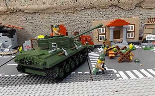 ★ World of Tanks 3006 – Bausteine US ARMY Panzer, 465 Teile, leichter Jagdpanzer M18 Hellcat, inkl. custom US ARMY Soldaten aus original Lego© Teilen ★ - 4