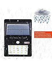 Scross Bright Waterproof Solar Wireless Security Motion Sensor LED Night Light for Outdoor/Garden Wall (Black) - Set of 20