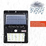 Scross Bright Waterproof Solar Wireless Security Motion Sensor LED Night Light for Outdoor/Garden Wall (Black) - Set of 20