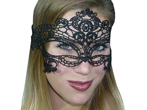 HO-Ersoka Damen Augenmaske Ballmaske Spitze Stickerei Maskenball Venezia ()