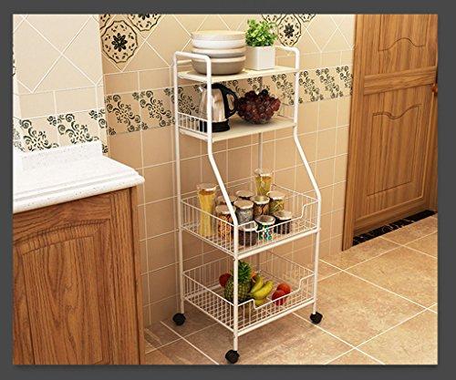 Étagère de rangement Étagère de cuisine Étagère de stockage de sol multicouche assaisonnement de légumes bol de stockage de pot étagère (Color : B)