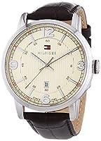 Reloj analógico para hombre Tommy Hilfiger 1710343, mecanismo de cuarzo, diseño clásico, correa de piel. de Tommy Hilfiger