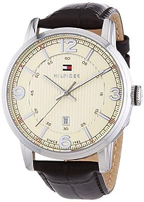 Reloj analógico para hombre Tommy Hilfiger 1710343, mecanismo de cuarzo, diseño clásico, correa de piel.